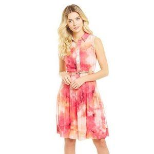 Calvin Klein Chiffon Printed Shirt Dress